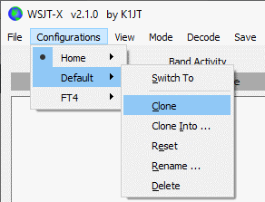 Clone WSJT Config