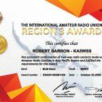 IARU Region 3 Award