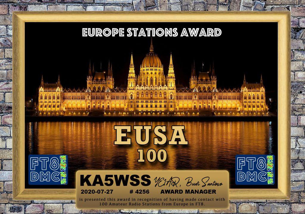 EUSA 100 Award
