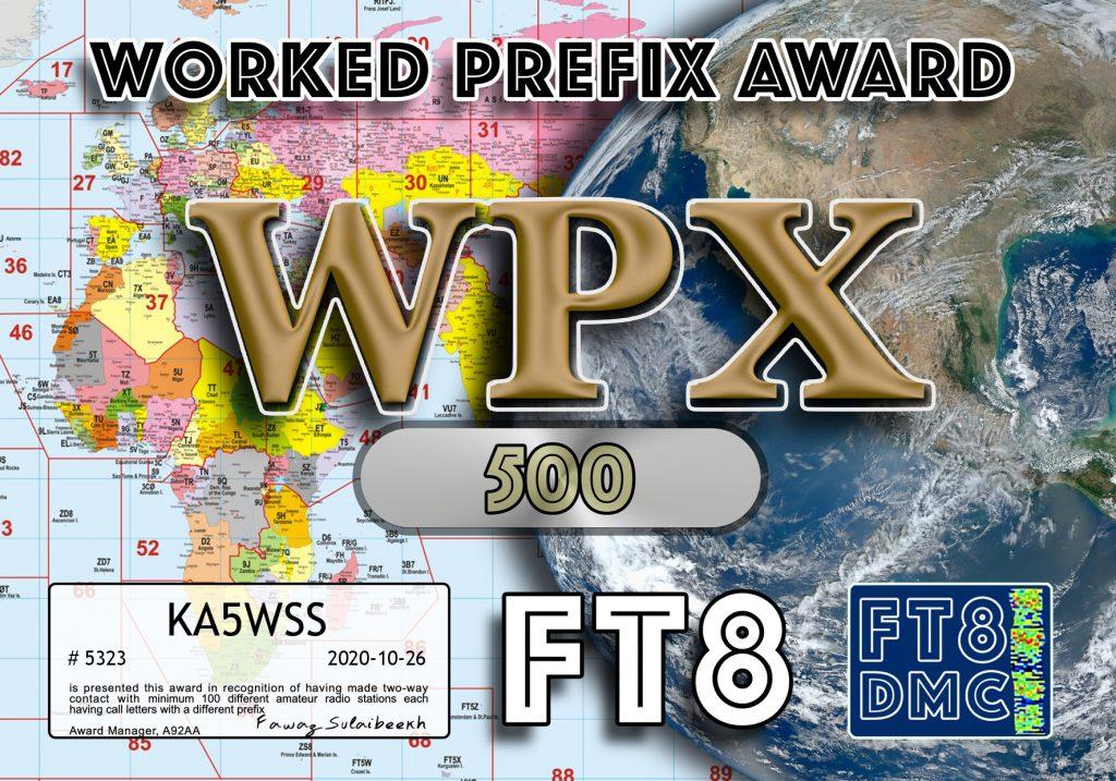 FT8DMC WPX Award
